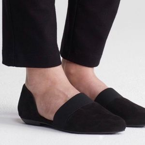 Eileen Fisher Flute Pointed D'Orsay Black Flats